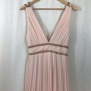 TFNC London Pleated Formal Maxi Dress